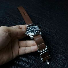 Custom Leather Watch Band,Leather Nato Watch Strap Replacement for Men and Custom Leather, Handmade Leather, Watch Strap Replacement, Stitch Shop, Stitching Leather, Leather Watch Bands, Leather Material, Leather Belts, Watches