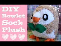 ❤ DIY Rowlet Sock Plush! How to make your own adorable Pokemon sock plus...                                                                                                                                                                                 More