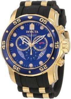 eef7ab46b54 Invicta Men s 6983 Pro Diver Collection Chronograph Blue Dial Black  Polyurethane Watch Relógios Masculinos
