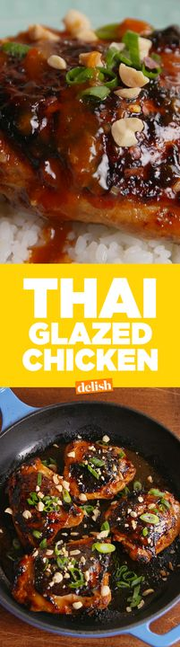 Thai Glazed Chicken will make you feel like you're out to eat, even when you're not. Get the recipe from Delish.com.
