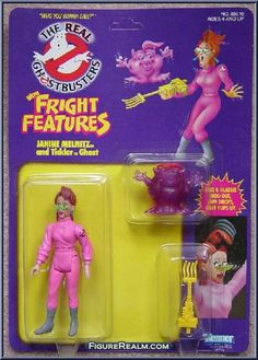 Kenner The Real Ghostbusters Fright Features: Janine Melnitz 1989 Ghostbusters Toys, The Real Ghostbusters, Vintage Toys 80s, Retro Toys, 1980s Childhood, Childhood Memories, Monster High Room, Vintage Video Games, Modern Toys