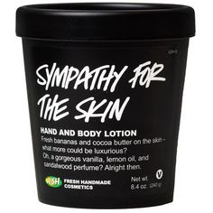 Your skin certainly deserves a little sympathy if it's feeling chapped or dry, so don't delay in smoothing on this delicious vanilla-banana cream. Made with cocoa butter, almond oil and organic bananas to moisturize skin, making it softer and more flexible, this formula also has loads of vanilla for its gorgeous creamy scent and its skin-soothing properties.