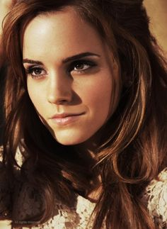 I was told that I look like Emma Watson, so one day I will do my makeup like hers, dress like her, and do my hair like hers. Oh and I'll talk in a British accent. Maybe last day of school or something.