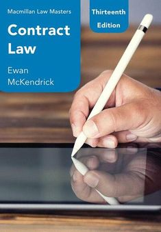 Contract law / Ewan McKendrick  Red Globe Press, 2019 Got Books, Books To Read, Torts Law, Contract Law, Core Curriculum, What To Read, Book Photography, Free Reading