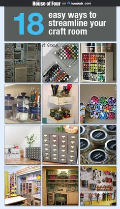 Make your craft room more efficient using these 18 easy tips for streamlining