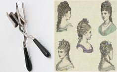 XIX. Unas tenacillas que utilizaban las mujeres de la época para rizar su cabello.