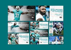 Marketing Campaign Design & Social Graphics for schedule release, NFL Draft, and game day.