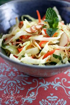 Warm Winter Coleslaw with Chili-Lime Dressing  from one of my favorite blogs - glutenfreegoddessblogspot.com