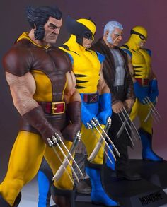 Wolverine statues from Gentle Giant by Paul Harding Comic Book Characters, Marvel Characters, Comic Character, Comic Books Art, Wolverine Art, Logan Wolverine, Hq Marvel, Marvel Heroes, Wolverine Pictures