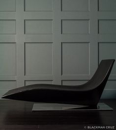 MDF Italia Chaise Lounge: Italy, 21st c , stainless steel, leather – Blackman Cruz