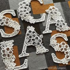 Quilled Letters in White