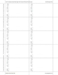 "Silver Swirl Business Cards, Silver Foil, 8.5""x11"", Card 2""x3.5"", 150/PK"
