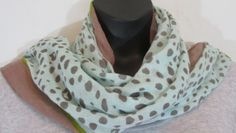 World Market - Mint Green and Brown Scarf -One Size -100% Acrylic
