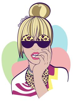 Beyonce Art of swagg Beyonce Art, Fashion Illustration Face, Dope Cartoons, Neoprene, Black Artwork, Girls Rules, Beyonce Knowles, Black Women Art, Arte Pop