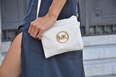 midilema.com | September 1st | Claudia Peris is wearing H&M silk maxi dress, white platform sandals from Marypaz, Michael Kors white bag, silver jewelry, Michael Kors silver oversize watch, ASOS white sunglasses.