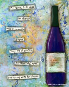 Greeting Card. Funny wine quote. I'm having by CountryCraftersUSA, $3.75