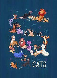 """Disney Cats"" by Bill Robinson"