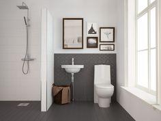 kylpyhuone,wc,suihku,tiililadonta,wc-istuin Soap Bubbles, Bathroom Inspo, Dream Rooms, Bel Air, Toilet, House, Haku, Decor, Saunas