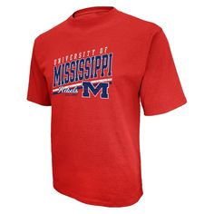 923bb4492 Cotton-polyester crew neck short sleeve tee shirt Step up your style game  with this delightful cotton-polyester tee shirt. Ole Miss Rebels Mens Short  Red S