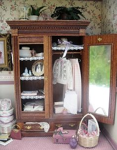 Miniature filled armoire