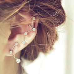 Jewelry Rhinestone Ear Cuff
