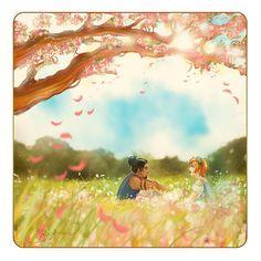 Easter 🌷✨Happy meus amigos !!!  ✨🌷 @treasureplanetjimxzara e eu criamos uma história ilustrada inspirada na primavera para você!  Siga para o meu blog para lê-lo e ver mais!  (Link está no meu perfil).  🙌😊🌷 # whimsicalsocs #whimsicalstalia #whimsicalsjarrett.  .  .  #illustration #art #illustrator #drawing #artwork #draw #artworks #instaart #instagram #artists #animegirl #digitalart #instadraw # ilustración #mangagirl #drawingoftheday #oc #ocs #mangaboy #otp #shipped #easter #spring…