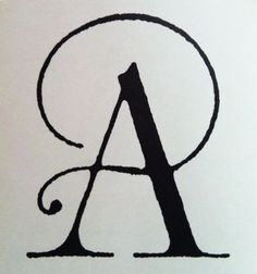 Elegant 'A' from Art and Architecture Manifesto.   Published 1989, designed by Pentagram.