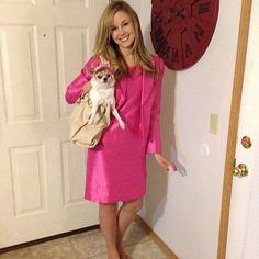 Elle Woods: The Costume: You can go with Elle's professional look with a pink skirt suit, stowing a real or fake Bruiser in your purse.