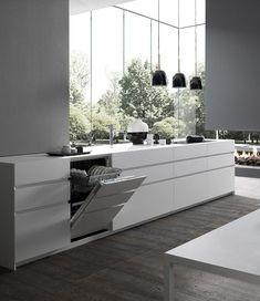 Modulnova minimalist kitchens in Palma de Mallorca Kitchen Furniture, Kitchen Interior, Exterior Design, Interior And Exterior, Decor Interior Design, Interior Decorating, Minimalist Kitchen, Apartment Kitchen, London