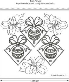 Christmas Pattern by Julie Roces