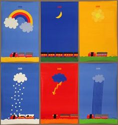 *** Grafik - Per Arnoldi. Seks plakater for DSB