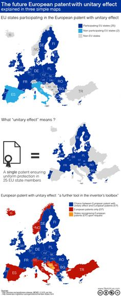 The future European patent with unitary effect explained in three simple maps  http://visual.ly/future-european-patent-unitary-effect-explained-three-simple-maps