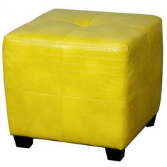 #alligator #yellow ottoman cube. This makes us want to kick our feet up! #mhf