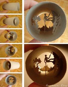 human ingen, toilet paper art. From the website of the artist, Anastassia Elias…