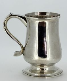 Currently at the #Catawiki auctions: Antique Solid Silver Tanker Cup, Made in Newcastle 1785, By John Langlands I ...