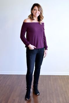 Berry Beautiful Off the Shoulder Top