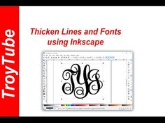 How to thicken lines and fonts using Inkscape - YouTube