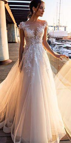 Pink Wedding Dresses, Cute Wedding Dress, Wedding Dress Trends, Wedding Dress Styles, Bridal Dresses, Wedding Gowns, Wedding Bride, Flattering Wedding Dress, Lace Wedding