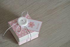 Kit Bomboniera Battesimo scatola stelline rosa/azzurro