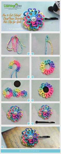 Colorful Cheap Flower Decorative Hair Clips for Girls