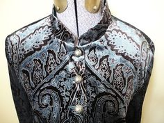 Coldwater Creek Brown Blue Paisley Velvet Nehru Jacket Blazer Western S Mint!  $29.99  http://cgi.ebay.com/ws/eBayISAPI.dll?ViewItem=290843218324=STRK:MESE:IT