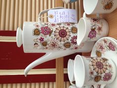 Gorgeous coffee set at Vintage Village at Stockport Market
