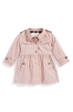 Free shipping and returns on Burberry 'Melody' Coat (Baby Girls) at Nordstrom.com. A gently pleated waistline provides a sweet finish for a sharp, traditional button-front jacket fashioned with sleek shoulder epaulets and a classic check-print lining.