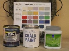 Chart with names of latex paint colors that are almost an exact match to Annie Sloan Chalk Paints.  This is