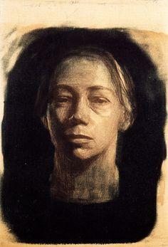 Self Portrait  Kathe Kollwitz  (source: scriptophobia)