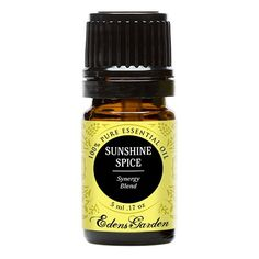 Sunshine Spice Synergy Blend Essential Oil by Edens Garden (Balsam, Camphor, Cinnamon Bark, Cinnamon Leaf, Eucalyptus and Sweet Orange)- 5 ml ** Discover this special product, click the image : NOW essential oils