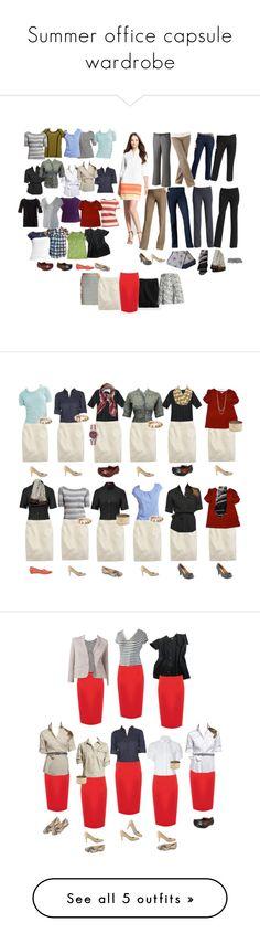 """Summer office capsule wardrobe"" by kettlebelle ❤ liked on Polyvore featuring LOFT, J.Crew, Oasis, Ann Taylor, Banana Republic, Isaac Mizrahi, Elizabeth and James, Croft & Barrow, Talbots and Apt. 9"
