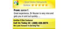 Great experience, Dr Houser is very nice and gets you in and out quickly