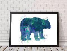 Bear Watercolor Art, Digital Download, Watercolor Image, Image Transfer, Bear Clipart, Downloadable Art by LilyAndTheLark on Etsy https://www.etsy.com/listing/220389805/bear-watercolor-art-digital-download