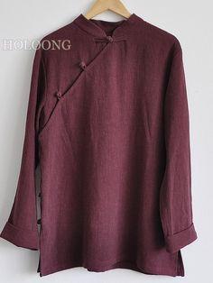 Autumn Republic of china Jackets Tang Men Loose Jackets